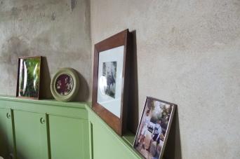 Detail Wandpaneele im Schlafzimmer