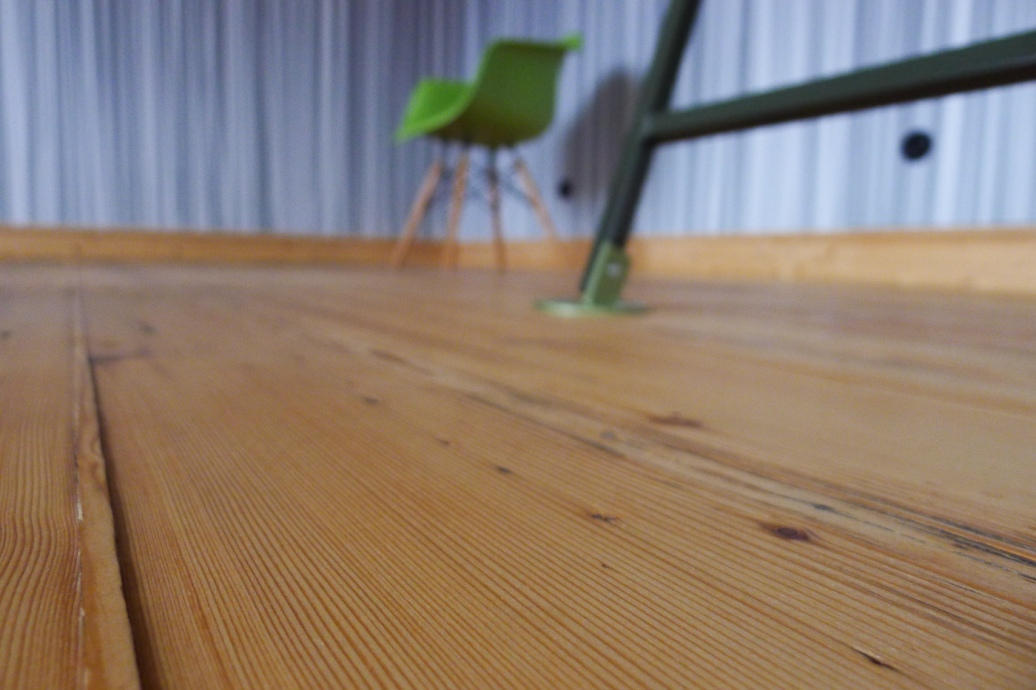 Dielenboden im Wohnzimmer